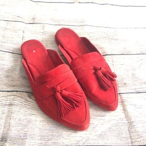 Aerosoles Mules shoes size 8 red
